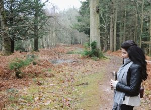 Taking five with a flask of hot chocolate in the New Forest